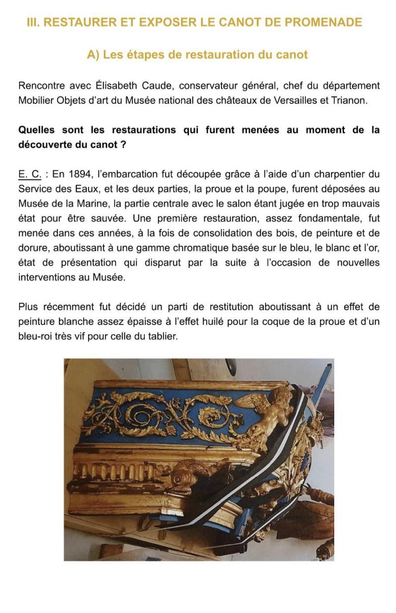 Le canot de promenade de Marie-Antoinette à Versailles Captu750