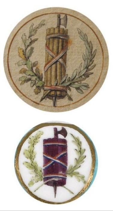 """Les services en porcelaine de Sèvres à décors """"révolutionnaires"""" (durant la Révolution française) Captu790"""