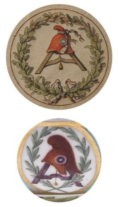 """Les services en porcelaine de Sèvres à décors """"révolutionnaires"""" (durant la Révolution française) Captu791"""