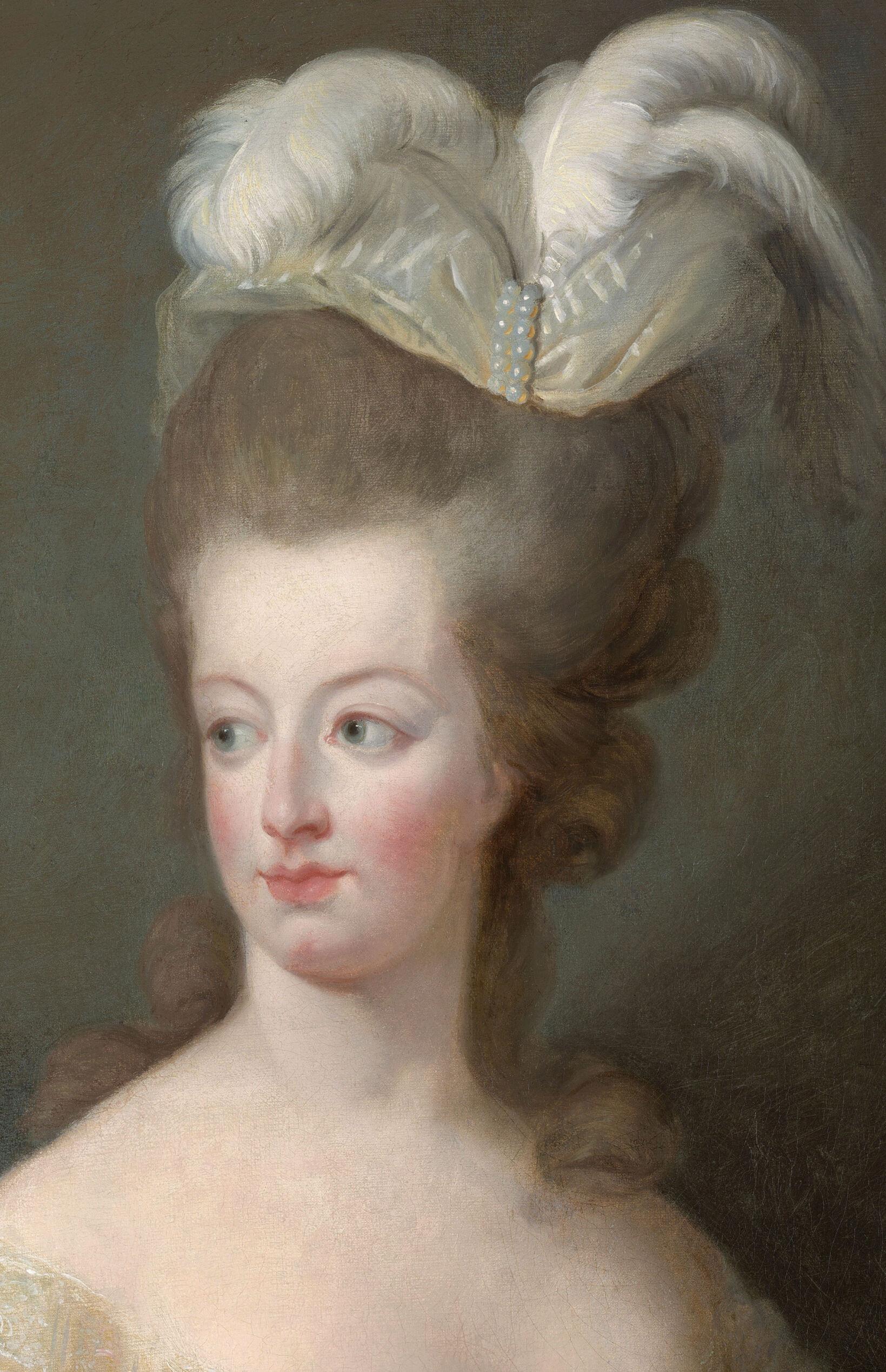 Marie-Antoinette en buste par et d'après Mme Vigée-Lebrun (1778) Captu814