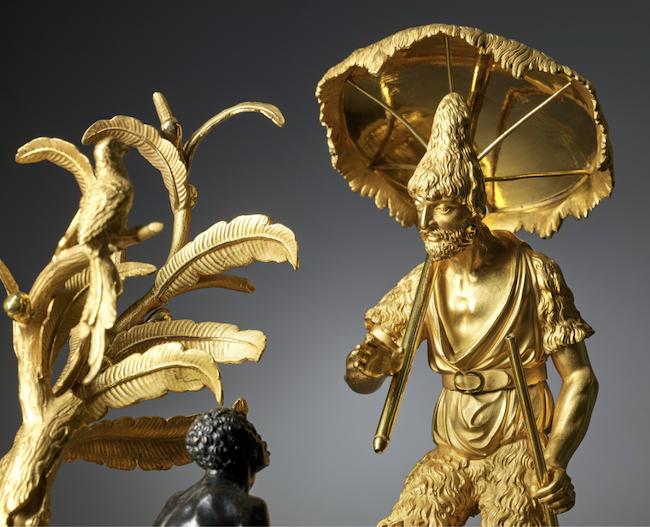 """Les pendules dites """"Au bon sauvage"""" et les créations de Jean-Simon Deverberie : L'Afrique et l'Amérique Captu864"""