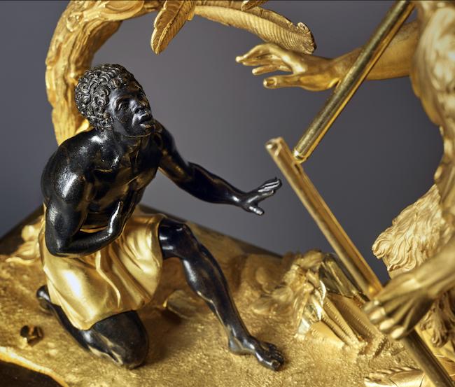 """Les pendules dites """"Au bon sauvage"""" et les créations de Jean-Simon Deverberie : L'Afrique et l'Amérique Captu865"""