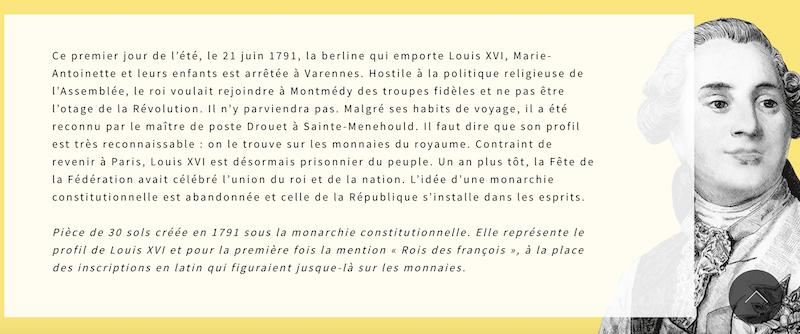 Varennes : Jean-Baptiste Drouet a-t-il reconnu Louis XVI grâce au profil du roi gravé sur une pièce de monnaie ?  Captu877