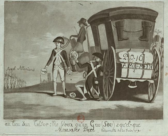 Varennes : Jean-Baptiste Drouet a-t-il reconnu Louis XVI grâce au profil du roi gravé sur une pièce de monnaie ?  Captu878
