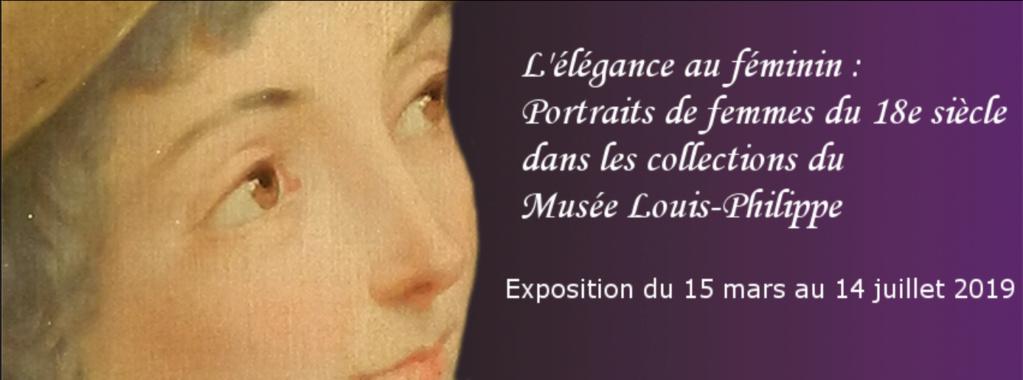 Exposition : L'élégance au féminin - Portraits de femmes du 18e siècle dans les collections du Musée Louis-Philippe. Captu898