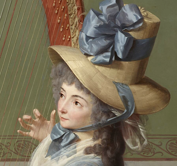 La leçon de harpe. Du peintre Jean-Antoine-Théodore Giroust Captu967