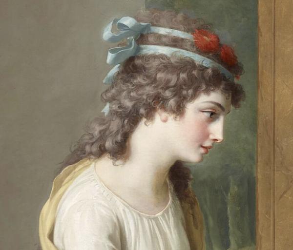 La leçon de harpe. Du peintre Jean-Antoine-Théodore Giroust Captu968