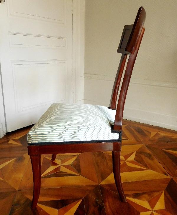 La leçon de harpe. Du peintre Jean-Antoine-Théodore Giroust Chaise12