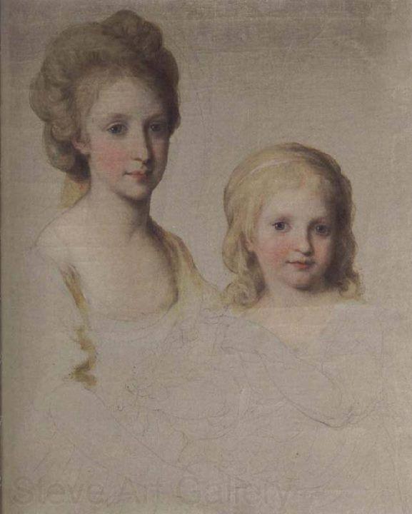 Portraits du roi Ferdinand IV et de la reine Marie-Caroline par Angelica Kauffmann Chasse15