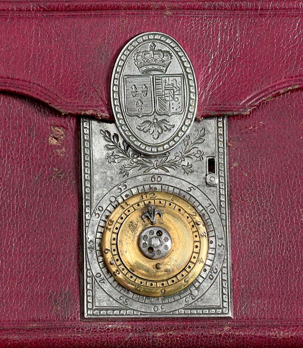 Portefeuilles aux armes de Marie-Antoinette, dauphine. Code_s10