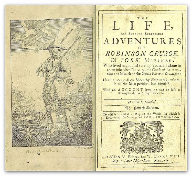 Roman : La vie et les étranges aventures de Robinson Crusoé Defoe_11
