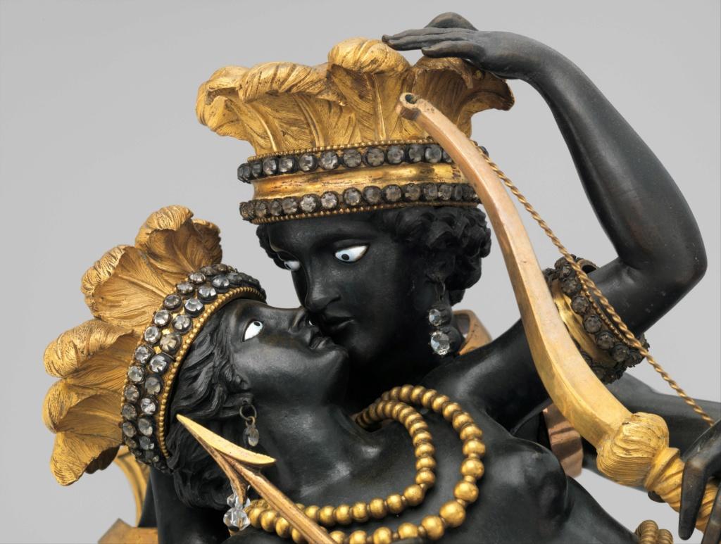 """Les pendules dites """"Au bon sauvage"""" et les créations de Jean-Simon Deverberie : L'Afrique et l'Amérique Dp352211"""