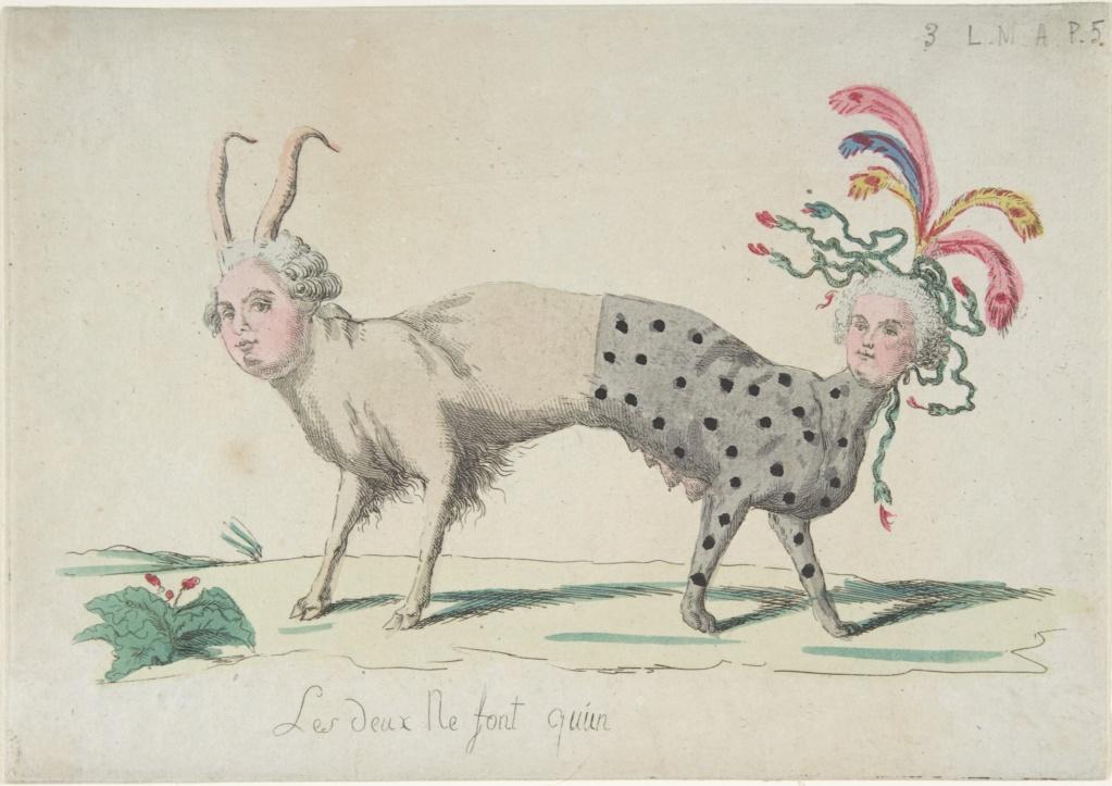 Marie-Antoinette, caricaturée en architigresse ou panthère autrichienne Dp808810