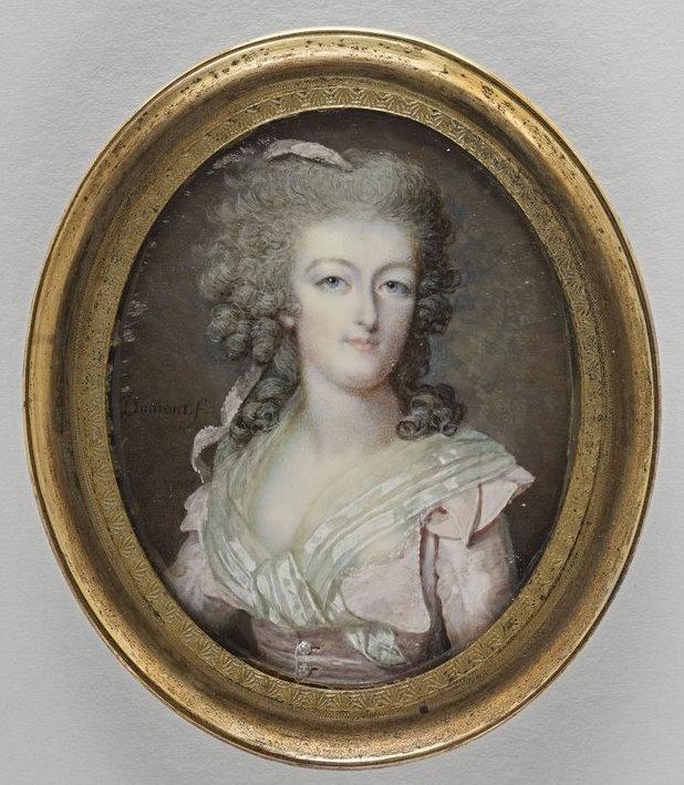 Dumont - Marie Antoinette, miniatures attribuées à ou d'après François Dumont Dumont10