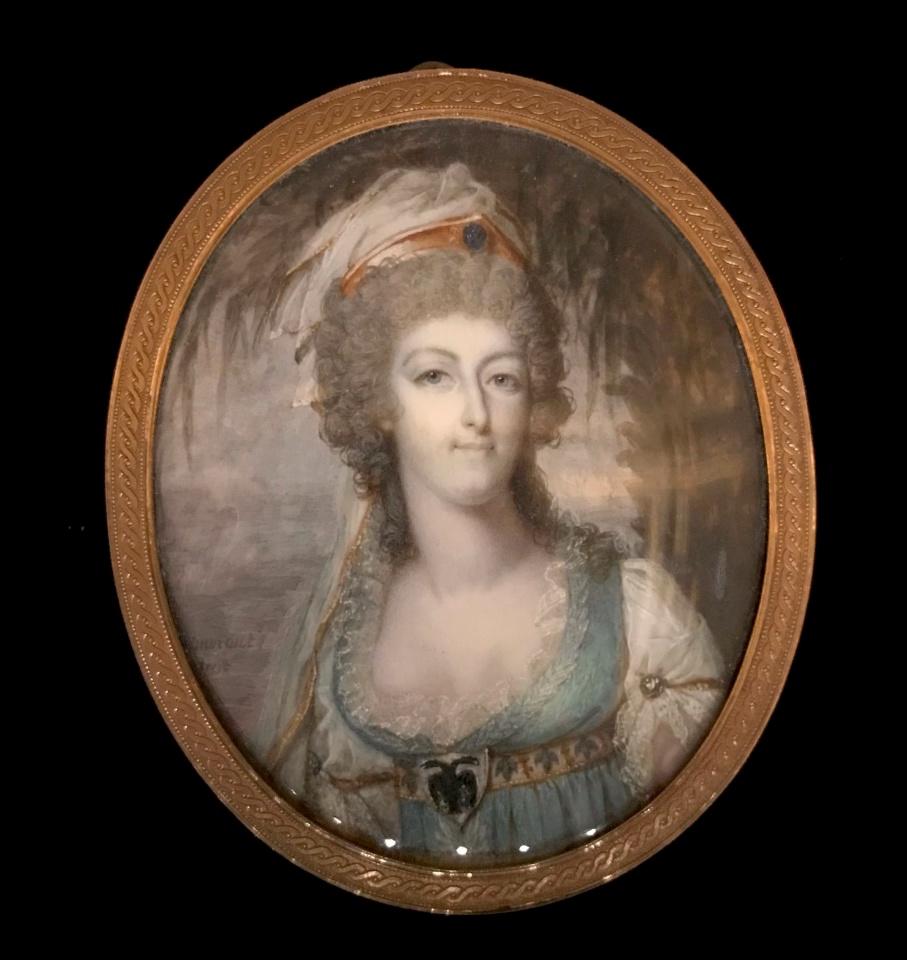 Portraits de Marie-Antoinette costumée à l'antique, ou en vestale, par et d'après F. Dumont  Dumont12
