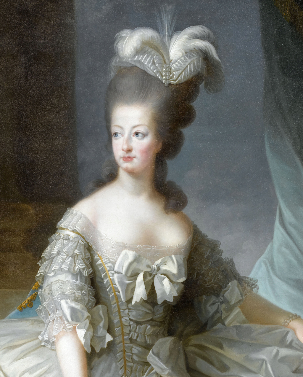 Premier portrait officiel de Marie-Antoinette par Mme Vigée-Lebrun (1778) E0d77110