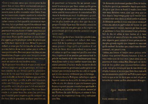 Testament / Lettre de Marie-Antoinette à Madame Elisabeth, le 16 octobre 1793 - Page 3 E1186010