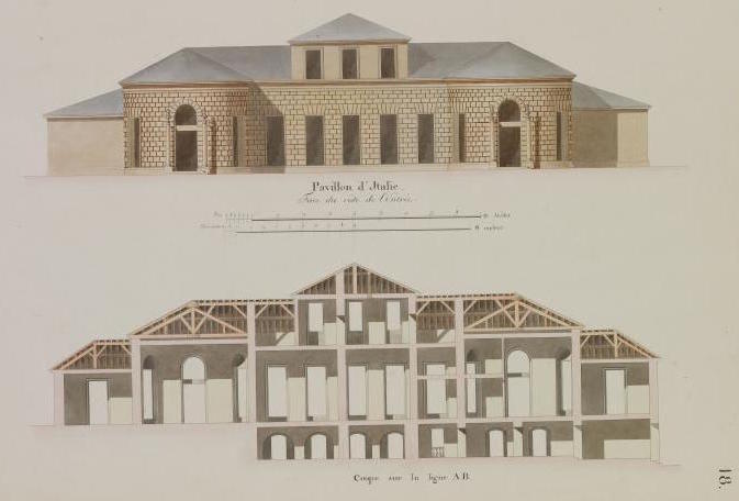Baignoire provenant du château de Saint-Cloud, réputée avoir été utilisée par Marie-Antoinette ?  E1317510