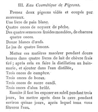 Les soins et produits de beauté de Marie-Antoinette : Jean-Louis Fargeon (parfumeur) et Pierre-Joseph Buc'hoz (médecin botaniste) Eau-co10