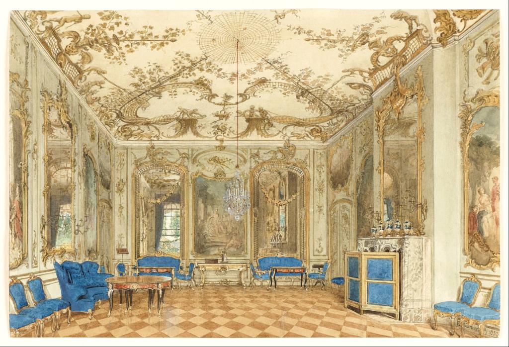 Le palais et le parc de Sans-souci, ou Sanssouci, à Potsdam  Eduard10