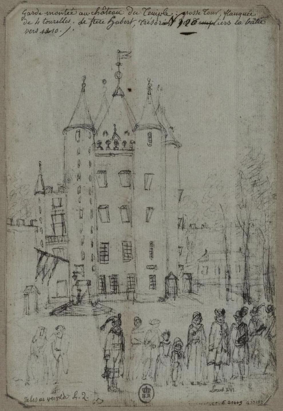 Plans et aménagements du donjon du Temple : la grande tour, la petite tour Famill12
