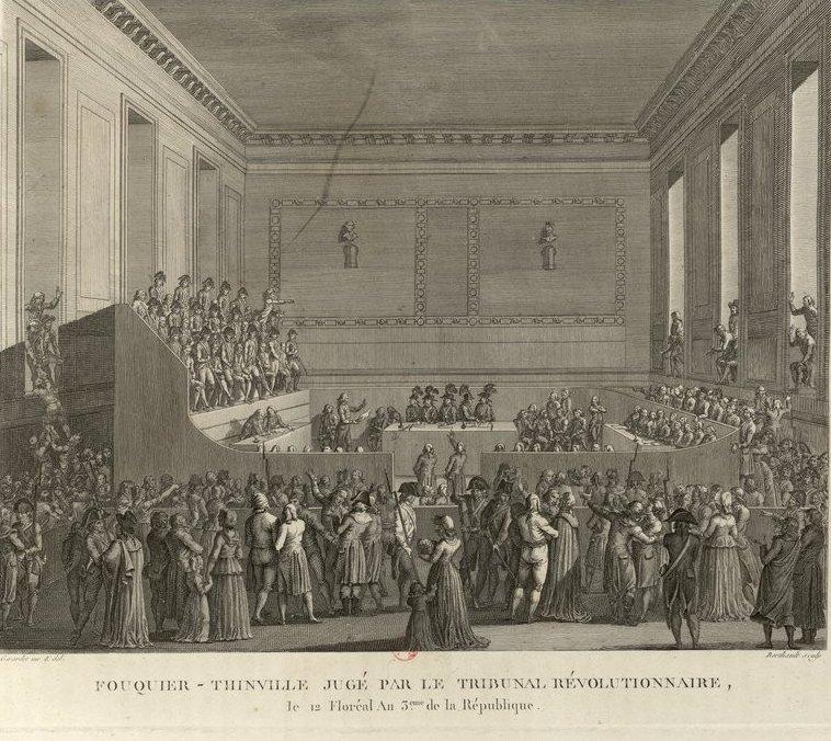 Le palais de Justice de L'île de la Cité, Paris, et la salle du Tribunal révolutionnaire Fouqui11