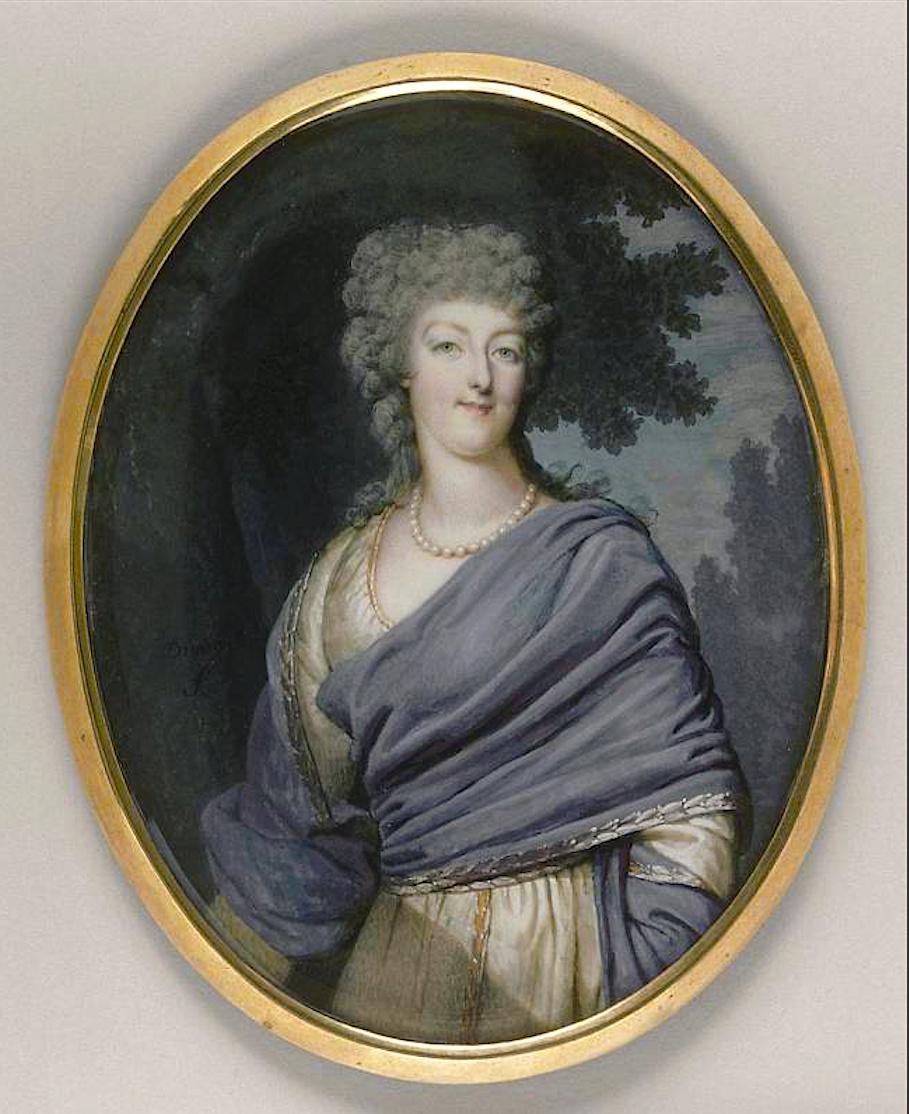 Portraits de Marie-Antoinette costumée à l'antique, ou en vestale, par et d'après F. Dumont  Franco16