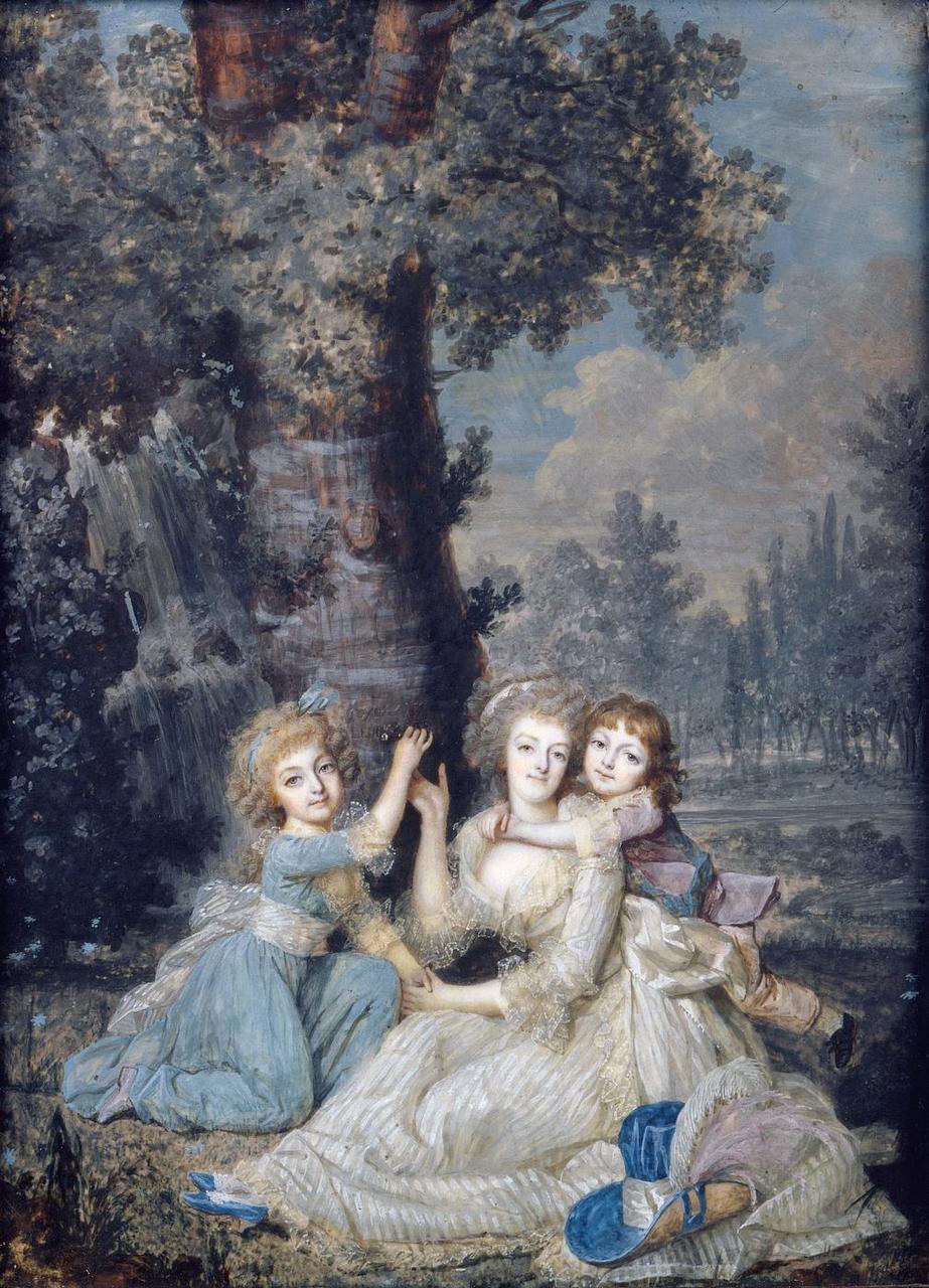 Marie Antoinette, miniatures attribuées à ou d'après François Dumont - Page 2 Franco21
