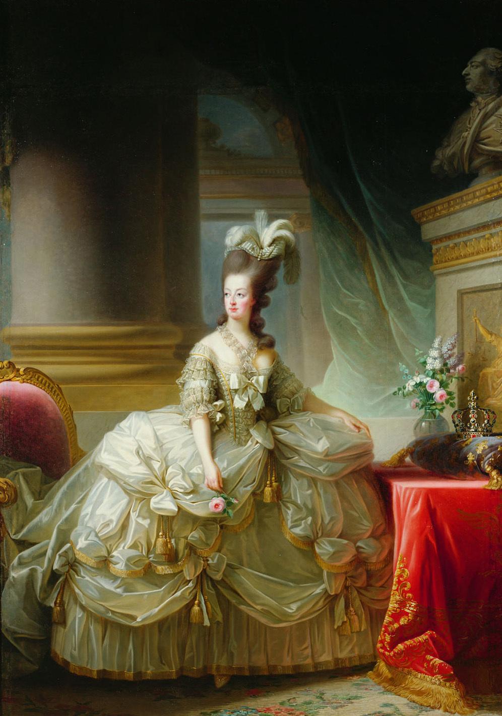 Premier portrait officiel de Marie-Antoinette par Mme Vigée-Lebrun (1778) Gg_27711