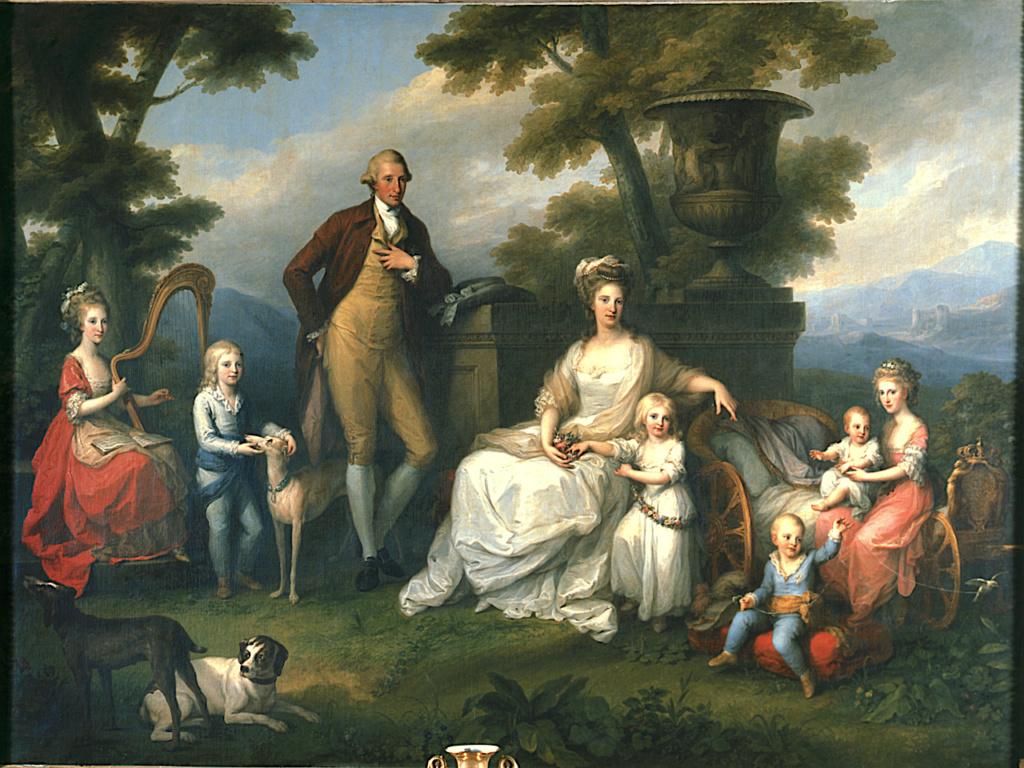 Portraits du roi Ferdinand IV et de la reine Marie-Caroline par Angelica Kauffmann Iccd1211