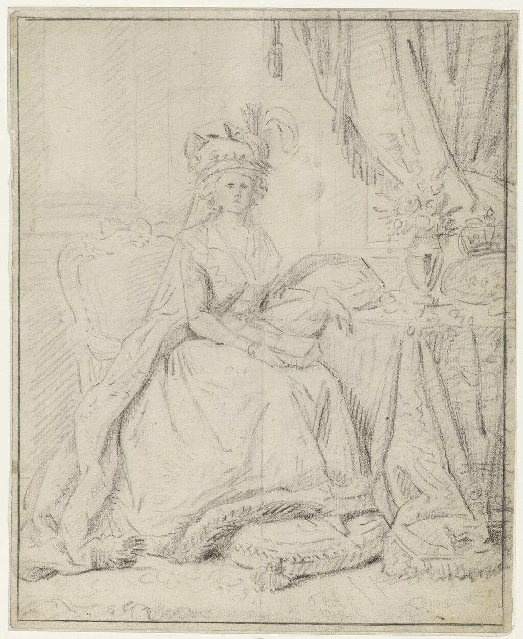 Portraits de Marie-Antoinette au livre, en robe bleue, par Vigée Le Brun (1785 - 1788 ?) Image117