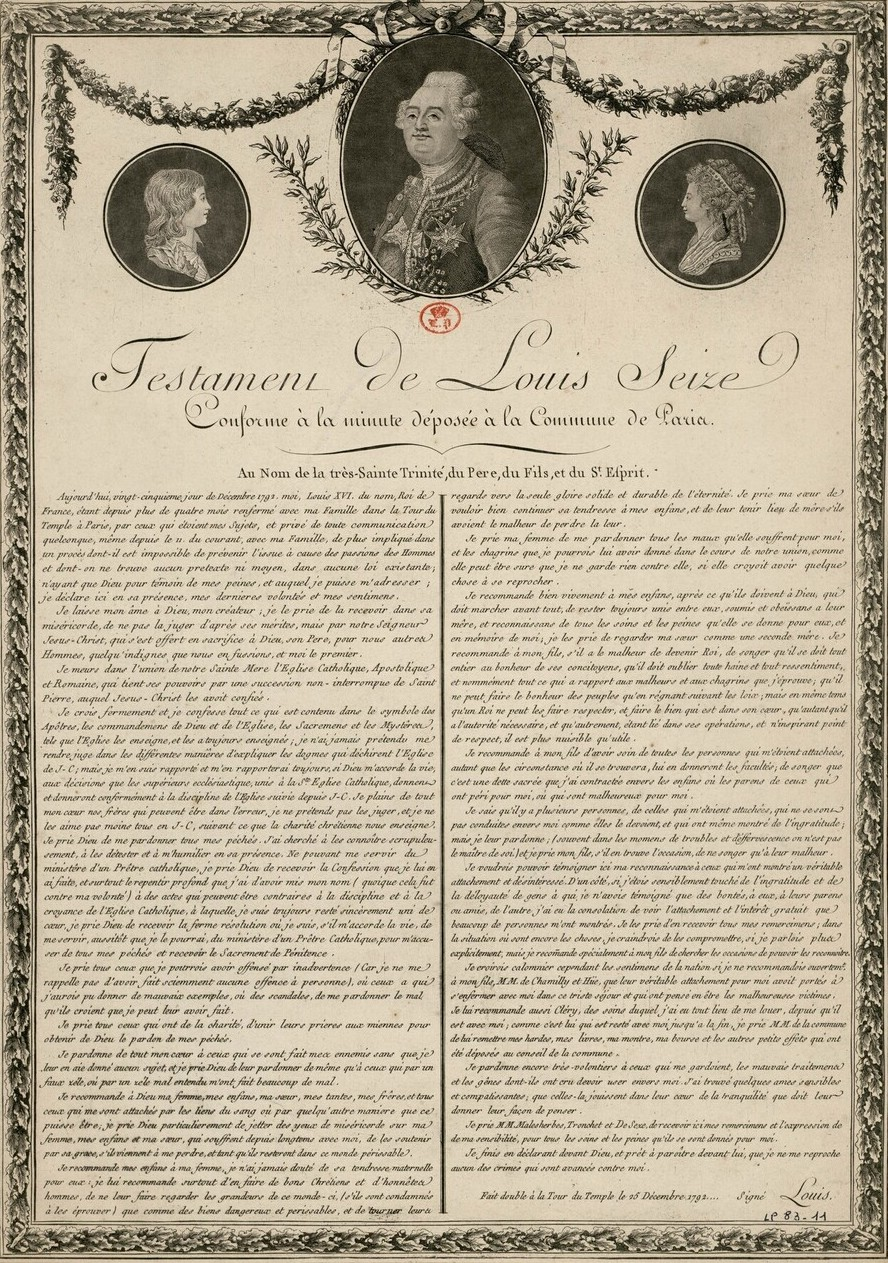 Le Testament de Louis XVI Image143