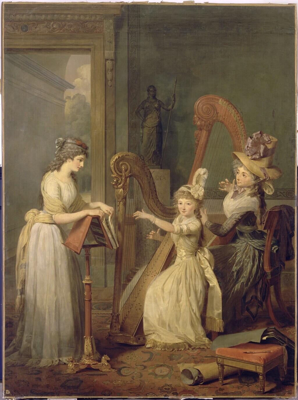 La leçon de harpe. Du peintre Jean-Antoine-Théodore Giroust Image248