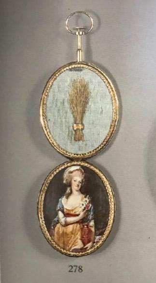 Portraits de Marie-Antoinette costumée à l'antique, ou en vestale, par et d'après F. Dumont  Image286