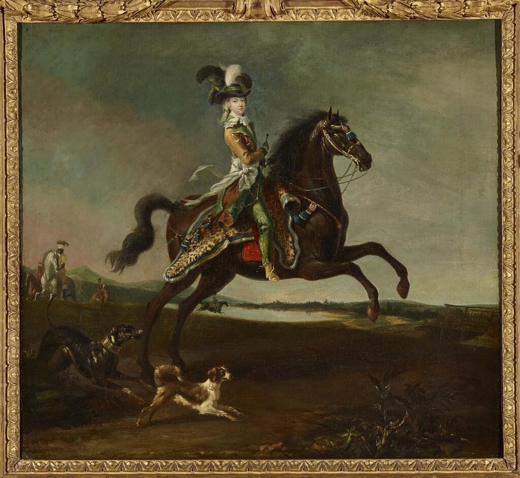 Auguste Brun - Louis-Auguste Brun, portraits de Marie-Antoinette en tenue de chasse Imagep24