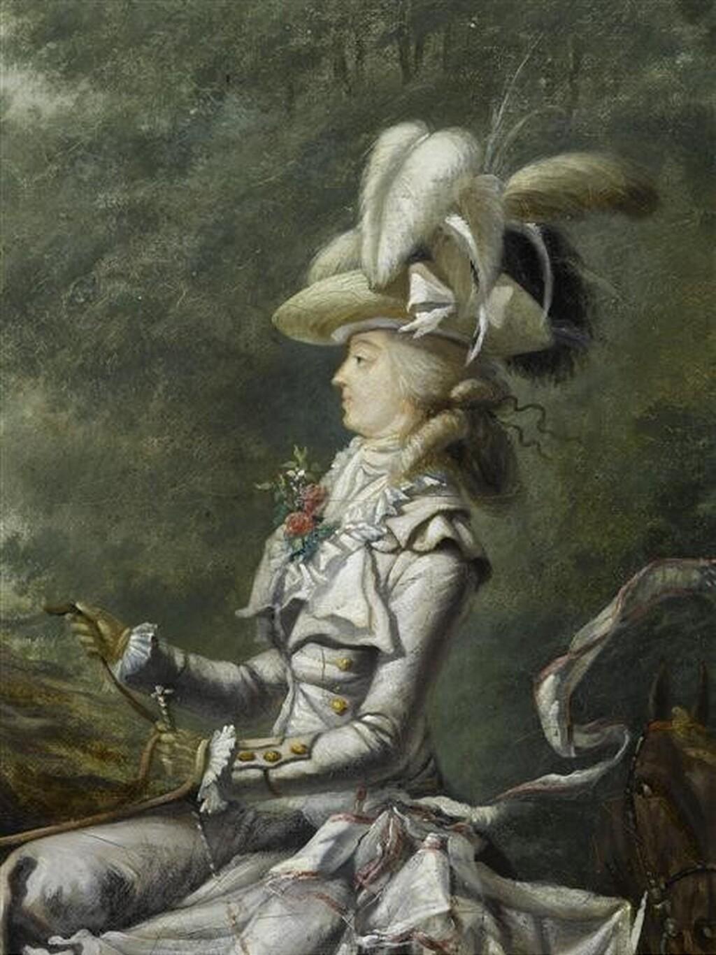 Louis-Auguste Brun, portraits de Marie-Antoinette en tenue de chasse Imagep25