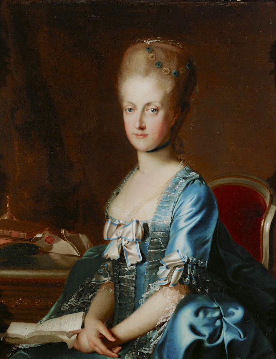 Portraits de Marie Caroline d'Autriche, reine de Naples et de Sicile Johann12