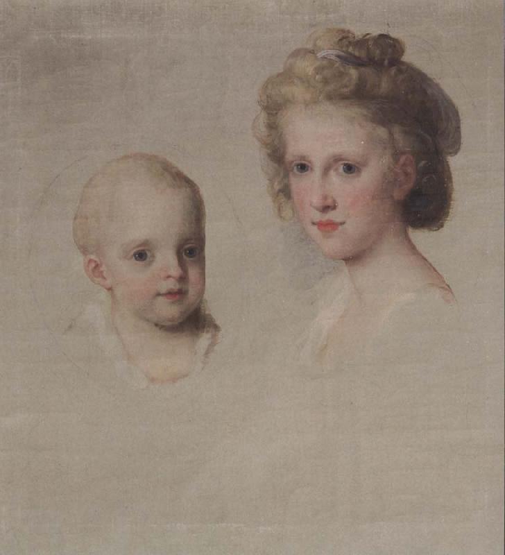 Portraits du roi Ferdinand IV et de la reine Marie-Caroline par Angelica Kauffmann Kauffm10