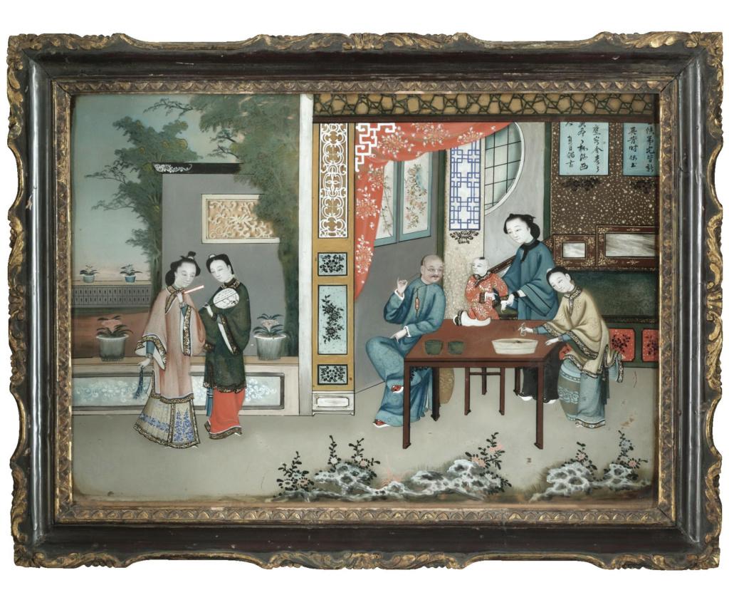 La peinture sous / sur verre chinoise au XVIIIe siècle L0821010