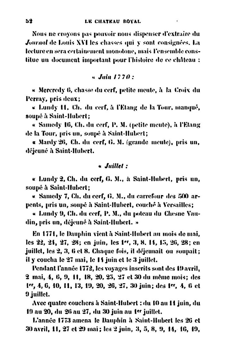 Saint-Hubert, château royal délaissé par Louis XVI Le_cha11
