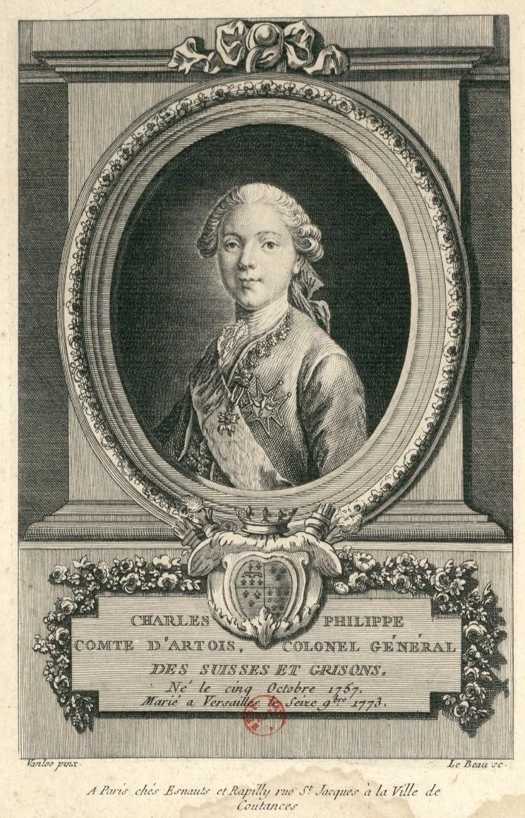 Portraits du comte d'Artois ou du comte de Provence par Van Loo ? Le_com10