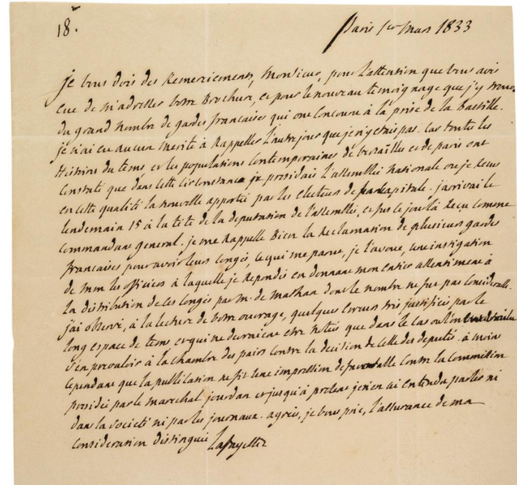 Gilbert du Motier, marquis de Lafayette - Page 5 Lettre10