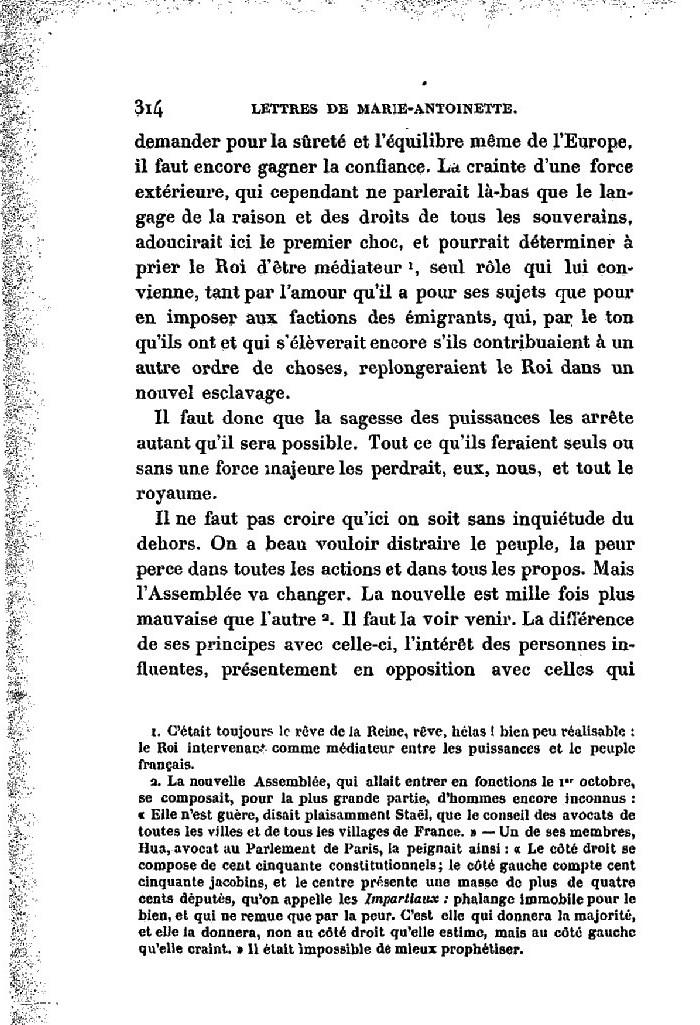 La correspondance de Marie-Antoinette avec le comte de Mercy-Argenteau - Page 2 Lettre14