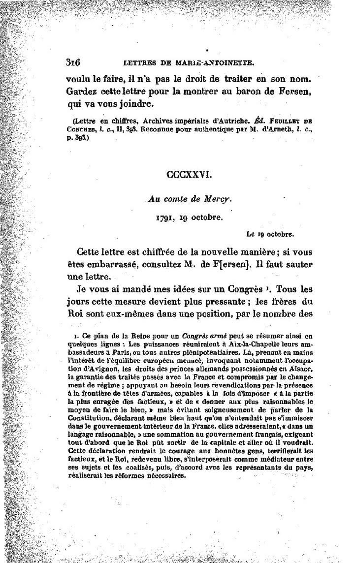 La correspondance de Marie-Antoinette avec le comte de Mercy-Argenteau - Page 2 Lettre16