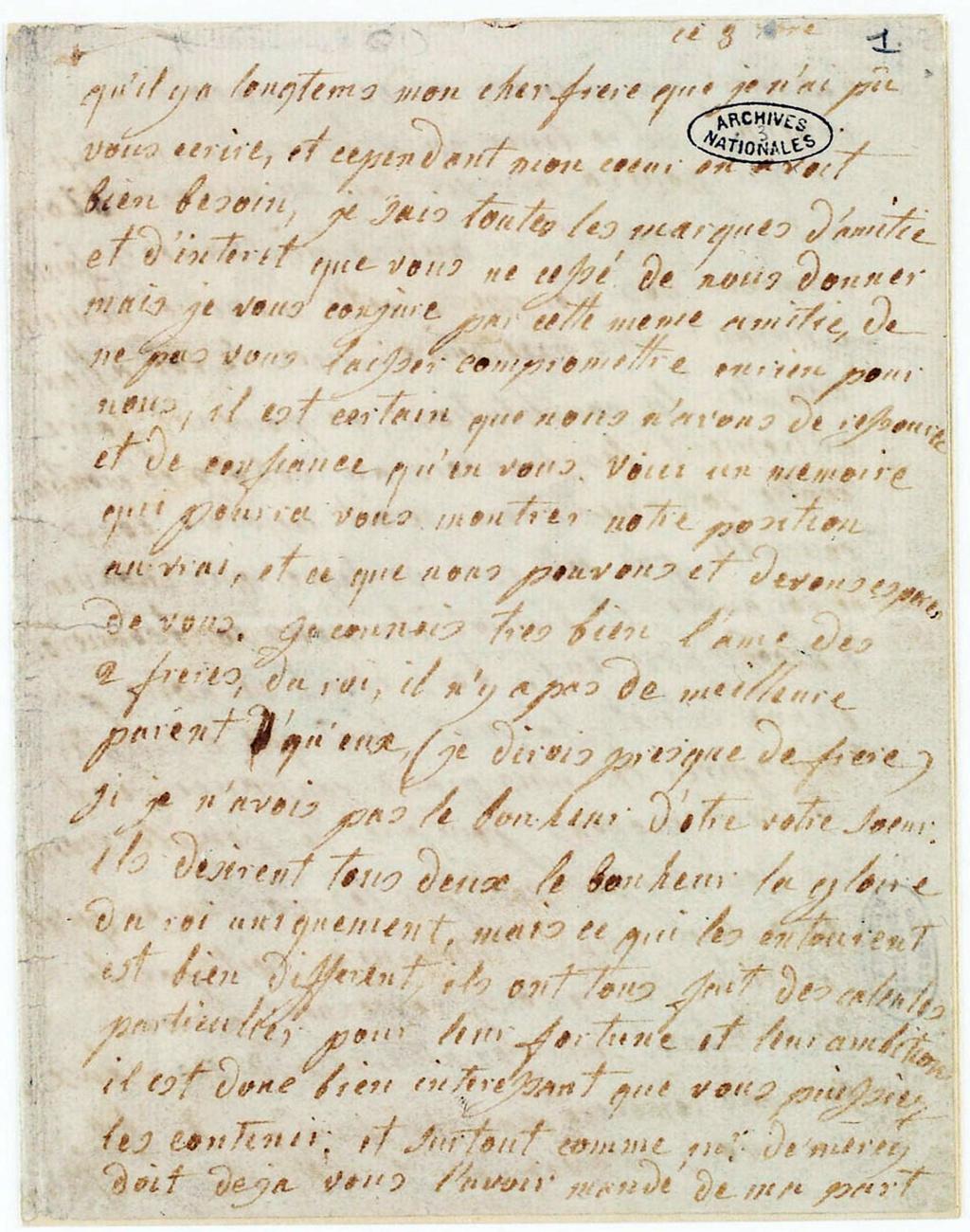 La correspondance de Marie-Antoinette avec son frère Léopold II Lettre20