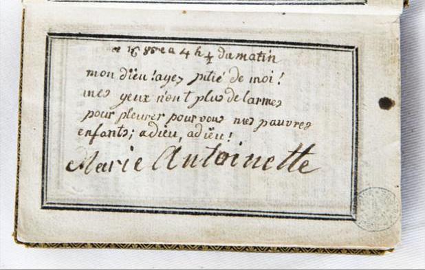 billet - Le billet du 16 octobre 1793 attribué à la reine  Livre_11
