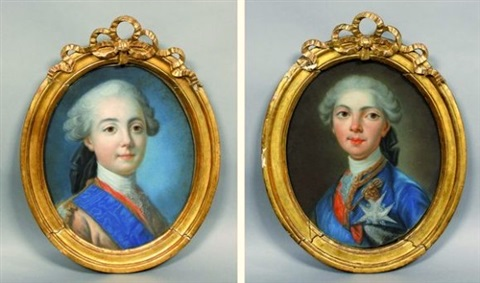 Portraits du comte d'Artois ou du comte de Provence par Van Loo ? Louis-12