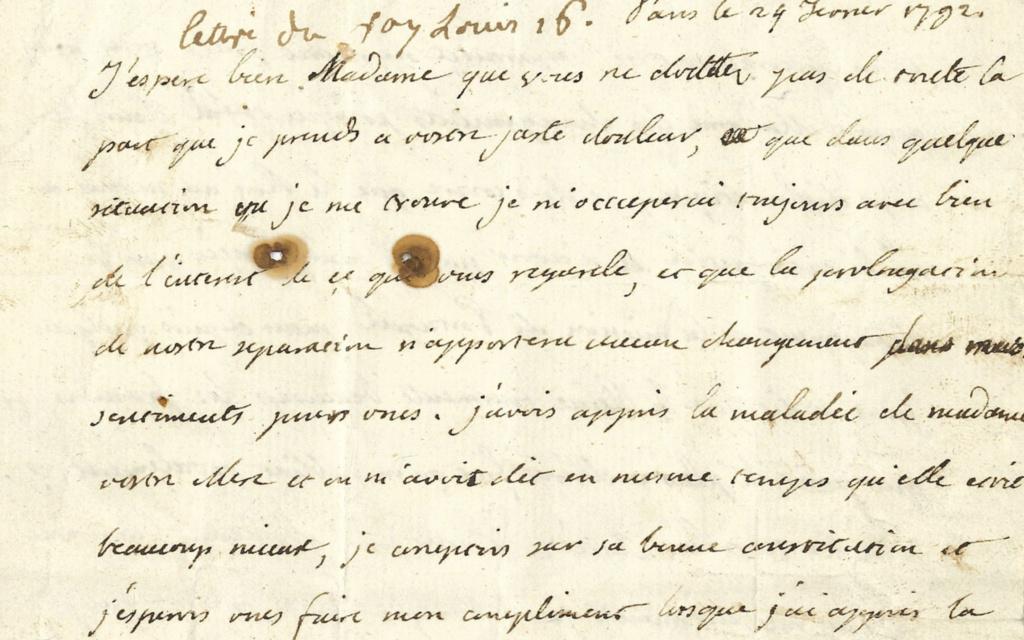 Lettres autographes et écrits de Louis XVI Louis_18