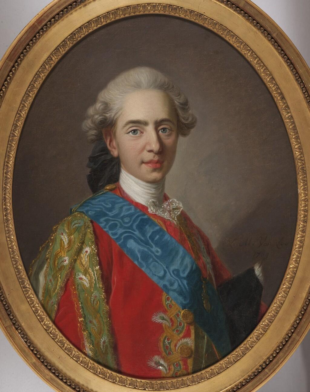 Portraits du comte d'Artois ou du comte de Provence par Van Loo ? Louis_26