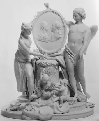 Marie-Antoinette : sujets allégoriques en porcelaine de la Courtine, Manufacture de Locré (Jean-Baptiste) Louis_77